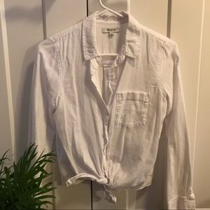 Madewell White Toe-Front Shirt